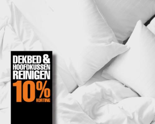 Dekbed & hoofdkussen reinigen 10% korting